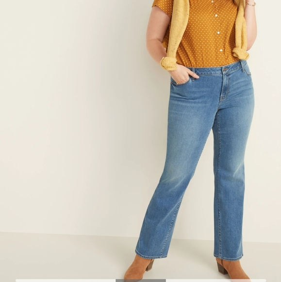 Curvy Boot-cut Old Navy Blue Jeans